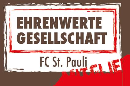Mitglied der Ehrenwerten Gesellschaft des FC St. Pauli